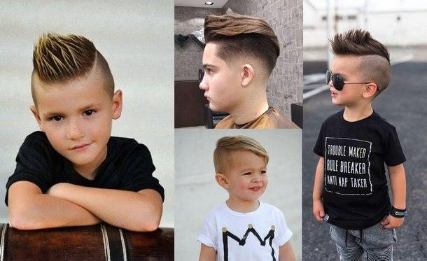 модные детские стрижки для мальчиков 2019