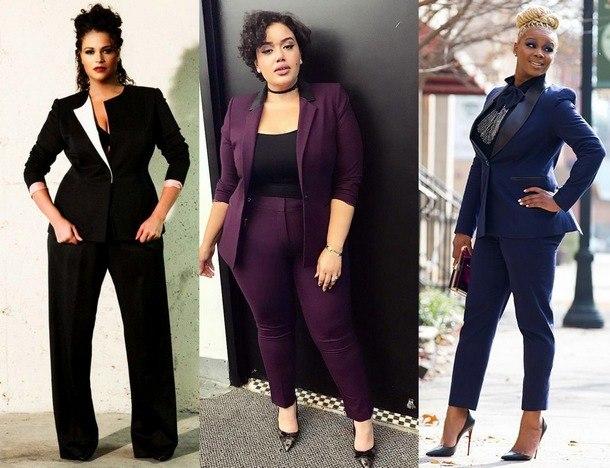 Мода для полных женщин 2019: фото с примерами