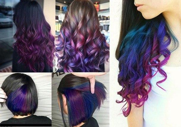 окрашивание волос цвета и техники