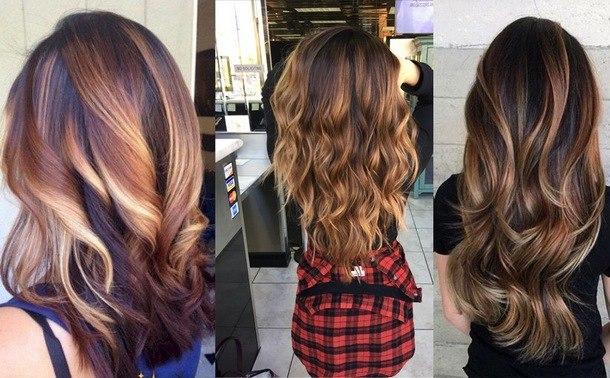 окрашивание темных волос в 2019 году
