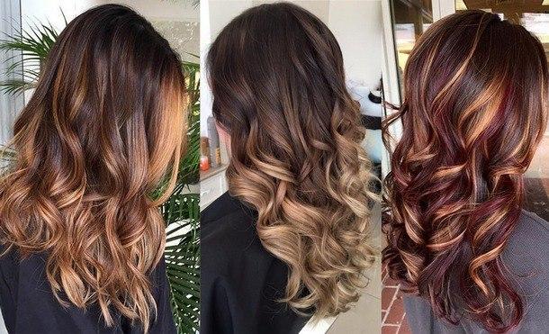 модное окрашивание на длинные волосы