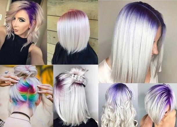 модное окрашивание 2019 на средние волосы фото