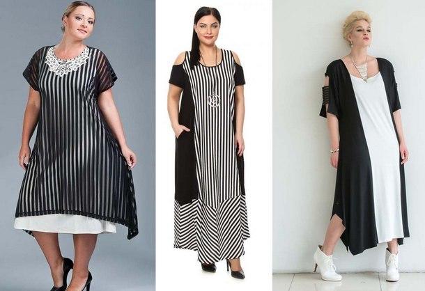 67b97e5ae59 Модные платья 2019 для полных  фото новинок