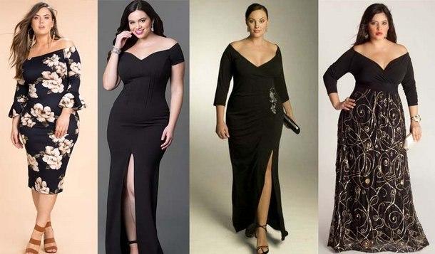 красивые модные платья для полных