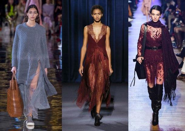 модные женские платья зима 2019