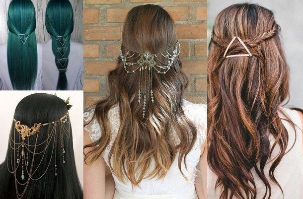 прическа новый год длинные волосы