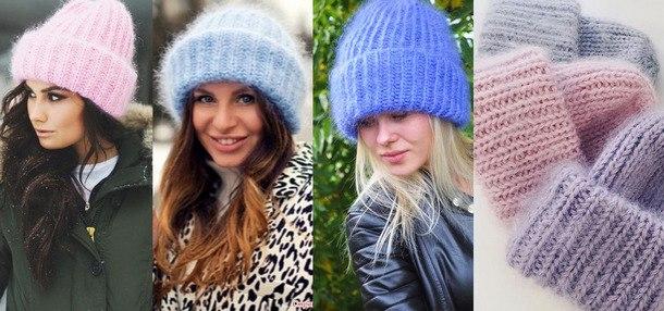 модные вязаные шапки 2019 тенденции моды фото новинок