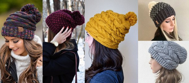 модные тенденции вязаных шапок 2019