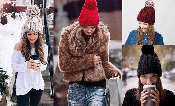 модные модели вязаных шапок 2019