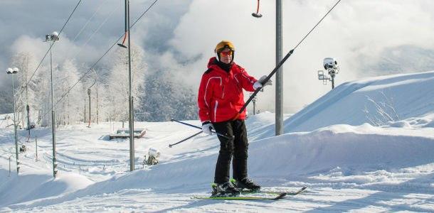Ski slopes in Sochi 2019