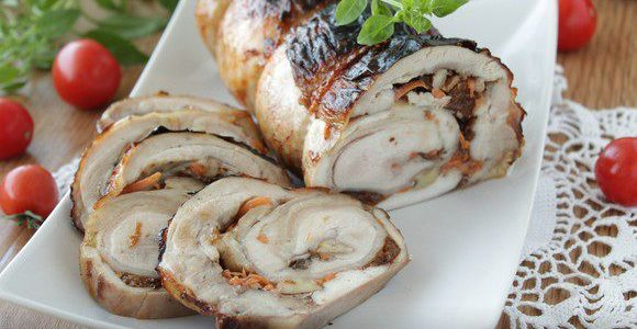 Chicken rolls with prunes on New Year's Eve 2019