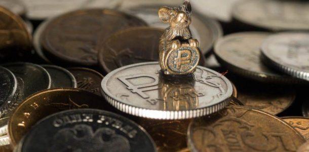 bir ruble ile fare