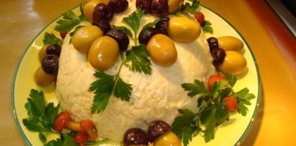 салат с желудями