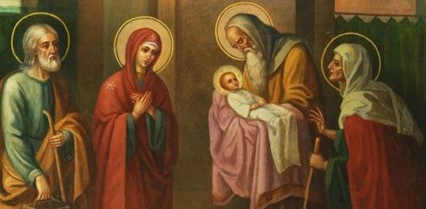 Симеон с маленьким Иисусом
