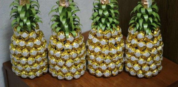 ананасы из конфет