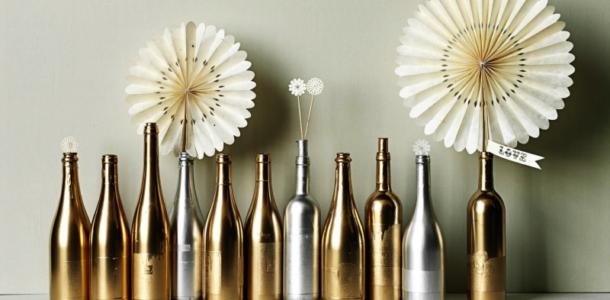 золотые бутылки