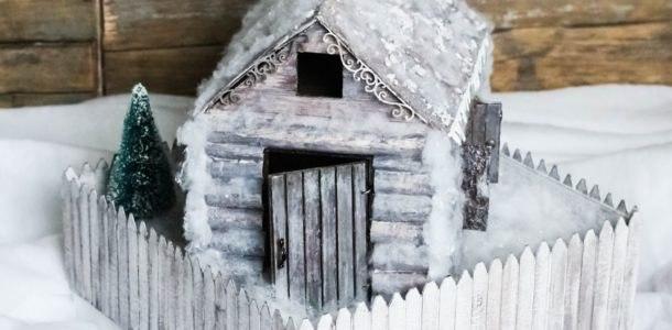 домик новогодняя поделка