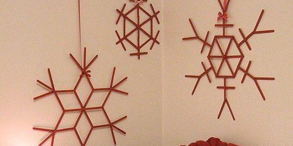 снежинки из палочек