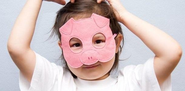 маска свиная мордочка
