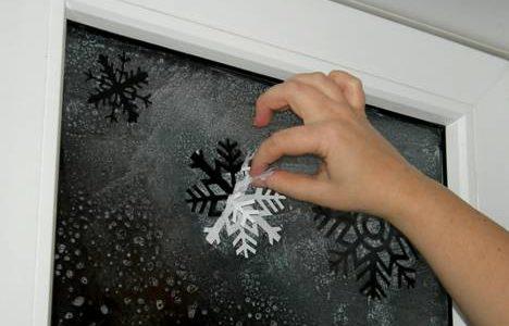 эффект мороза на окне