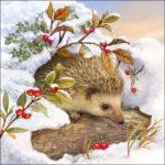зима декупаж новый год