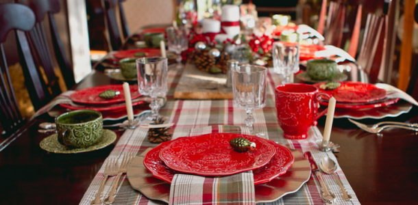 country style table for the New Year 2019