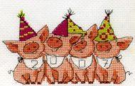 Схемы вышивки крестом на Новый 2019 год Свиньи