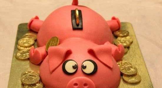 Торт «Свинка-копилка»
