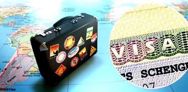 виза и чемодан