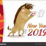 открытка 2019 год свиньи на английском