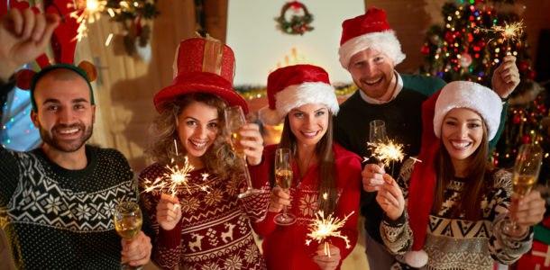 отдых с друзьями на новый год