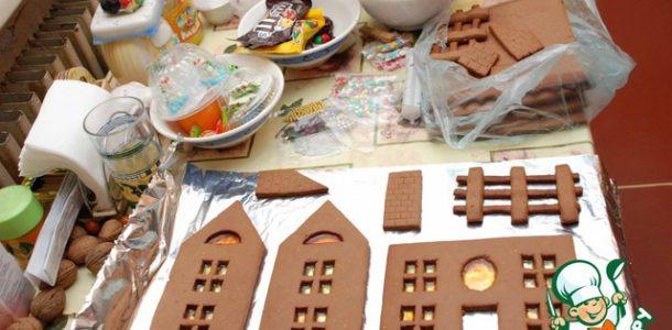 приготовление пряничного домика
