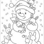 новогодние детские картинки раскраски