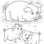 раскраска свинки к нг 2019