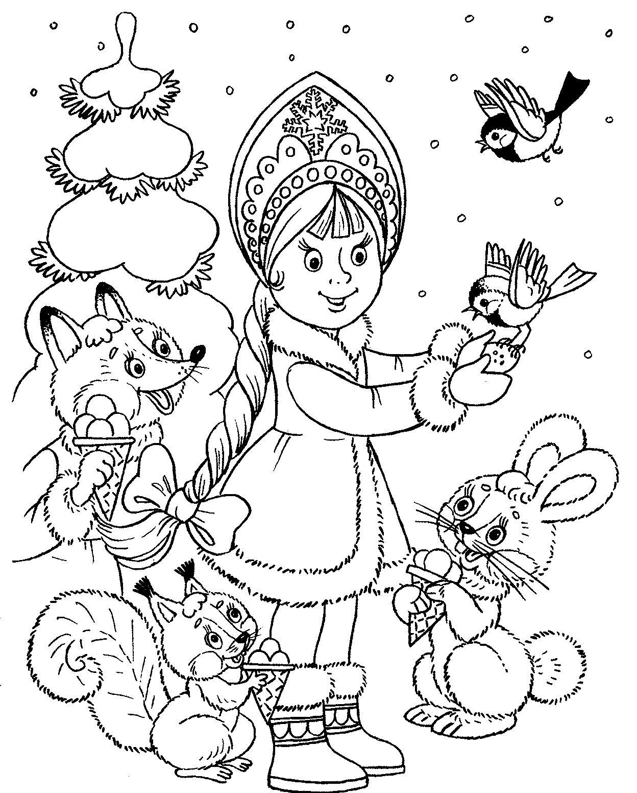 Раскраска на Новый год 2019 для детей