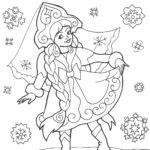 раскраска снегурочки для детей