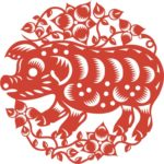 свинка в народном стиле