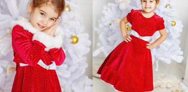 Девочка в Новогоднем платье
