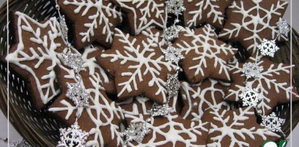 печенье в форме снежинок