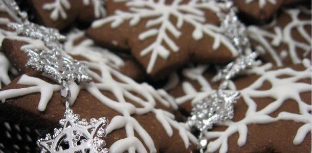 шоколадное печенье на новый год