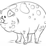 шаблон свинки в грязи